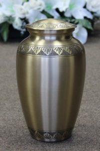 Memorial Garden Silver Metal Urn FM0525
