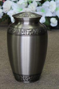 Memorial Garden Silver Metal Urn FM0525-S